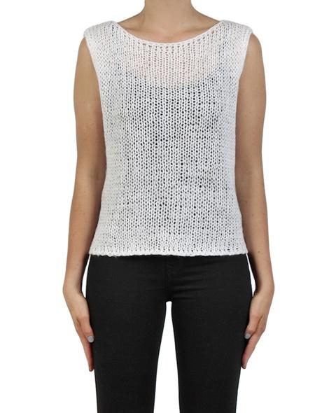 Pippa vest white front