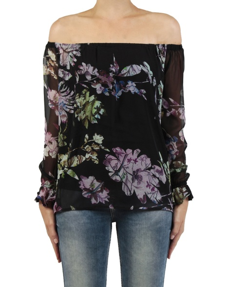 Wisteria top black front