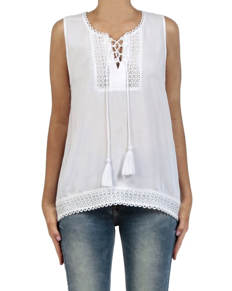 Marcel top white front