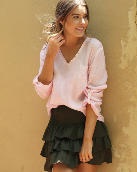 Posie Skirt Khaki + becca blush (5)