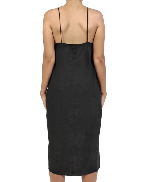 Shiona Slip dress black back