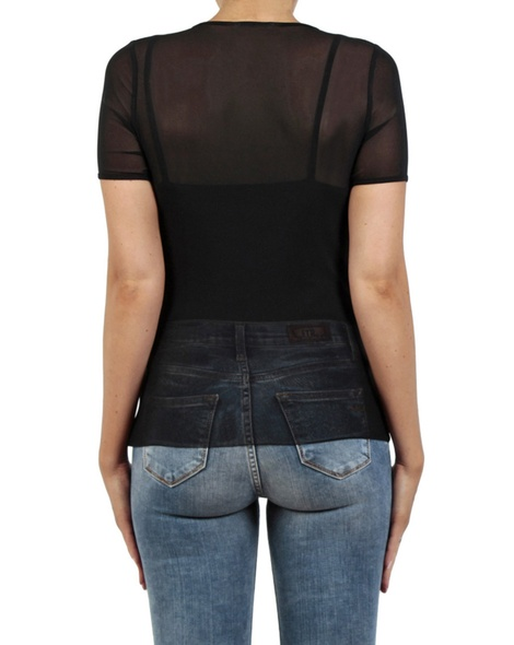 Revolver cap sleeve top black back copy