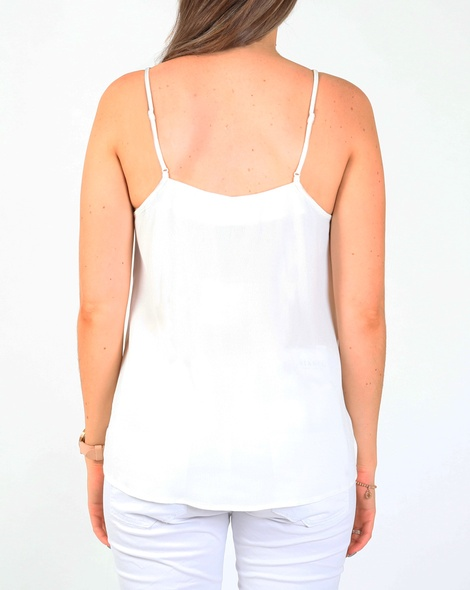 Lina lace cami white B