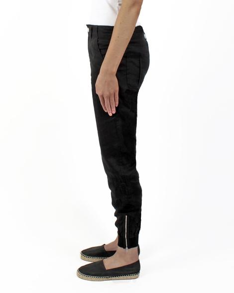 Cooper linen pant blk side