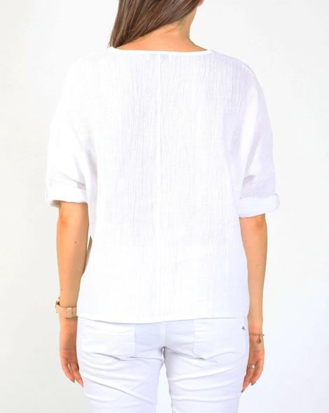 Piper linen top white B
