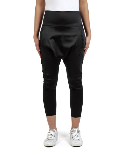 Satin Milano pant black front copy