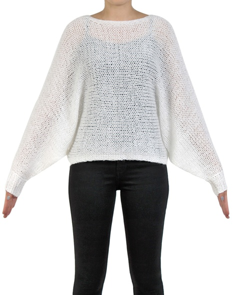 Ivanna Jumper white sleeves