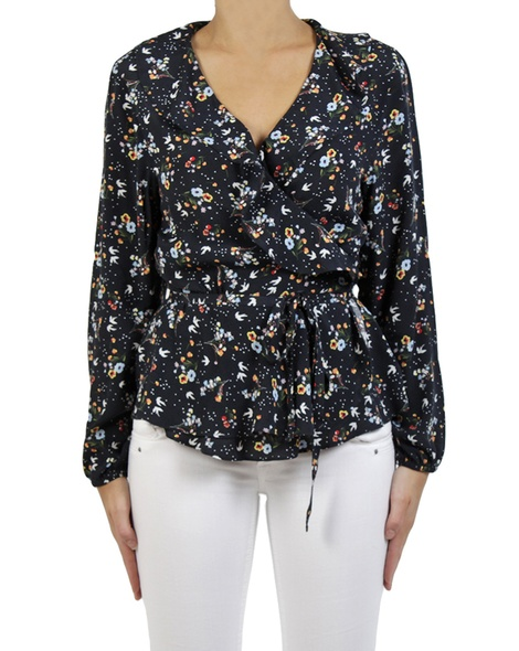 Isabel wrap top navy A copy