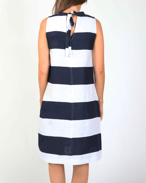 Printed stripey dress B