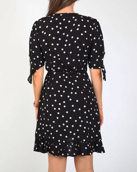 Catriona spot dress blk B