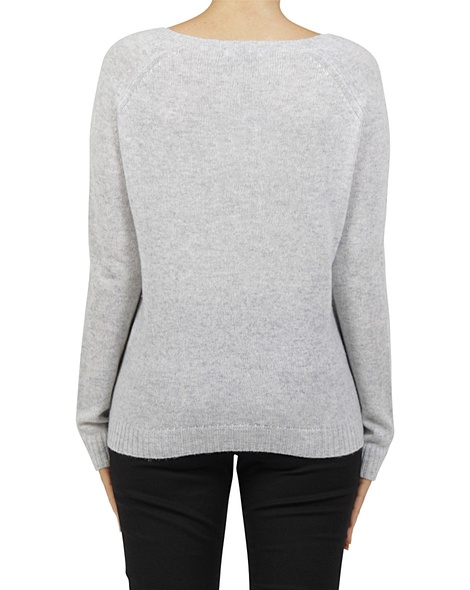 Luxe cashmere sweater silver B