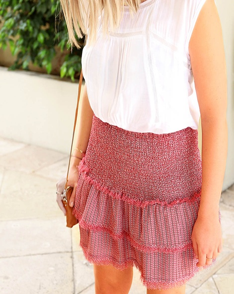 Evie frill skirt