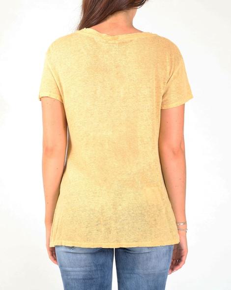 linen v neck tee  mustard B