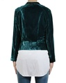 Silk Velvet Bomber teal back