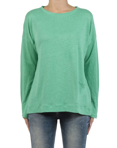 Linen boatneck knit apple front copy
