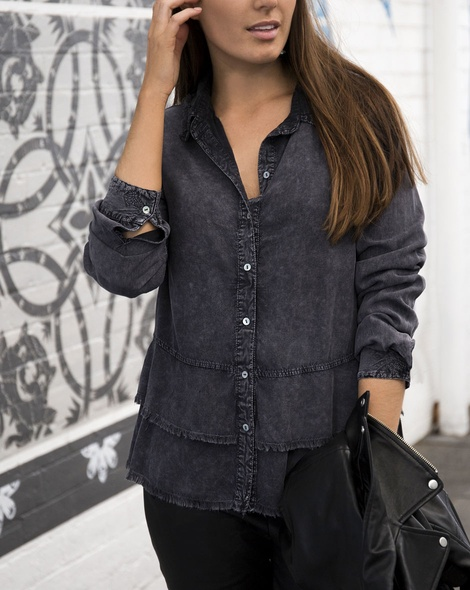 Lonestar shirt charcoal (4)