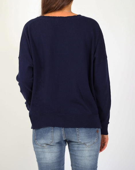Tommie knit navy white B