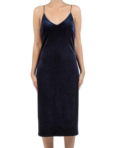 Eva velvet slip dress sapphire front copy