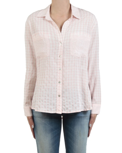 Gingham multi shirt pale pink front copy