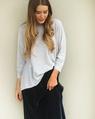 Star charm sweater + velvet midi skirt charcoal (5)