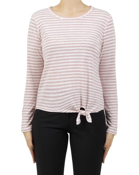 stripey abel top pink new A