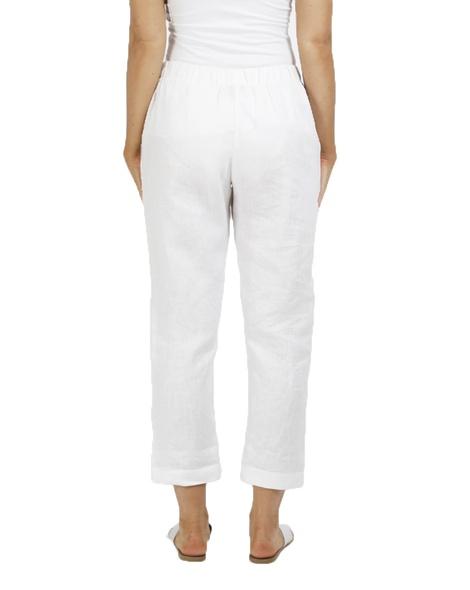 lottie linen pant white B