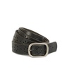 Dot dash belt black