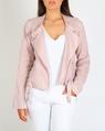 Linen biker jacket pink A