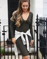 Sharnie twist dress khaki (4)