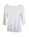 core 3-4 sleeve scoop neck White back