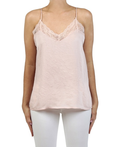 Shiona Lace camisole blush front