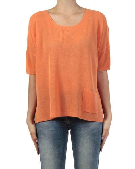 Adora crop knit orange front
