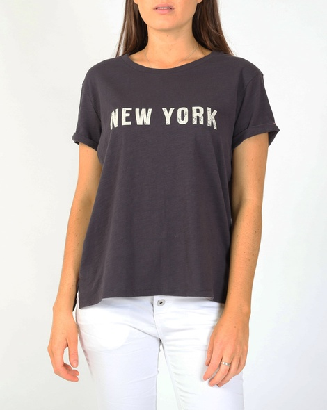 New york tee charcoal A