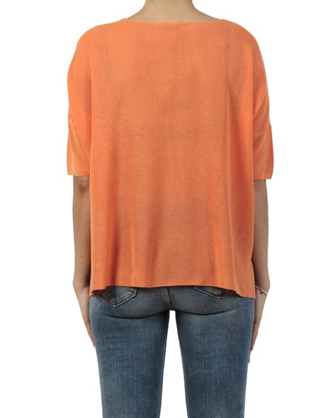 Adora crop knit orange back