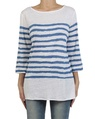 Painted stripe boatneck white royal front copy