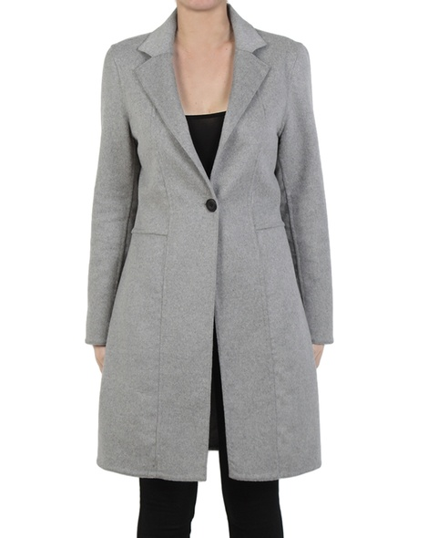 Longline blazer silver front button copy