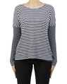 stripey lennon top navy A