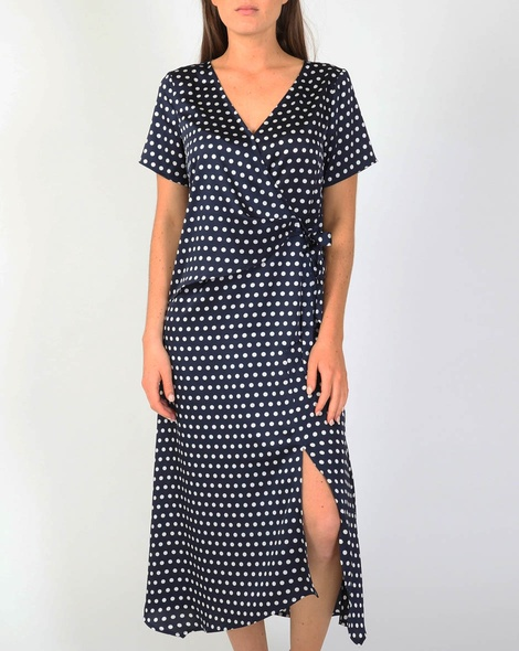 Laura wrap dress navy A