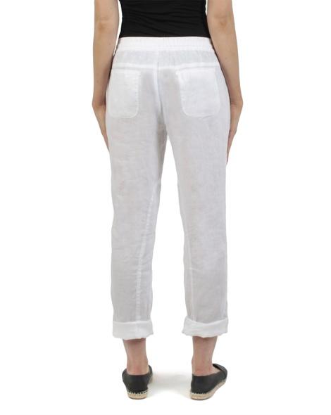 Elliot linen pant white rolled copy