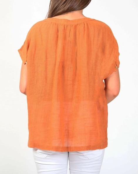Amalfi top orange B