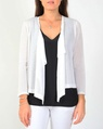 Water fall cardi white A