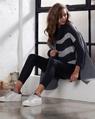 Paige stripey knit Wyatt Coat EDITED