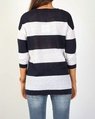 wide stripe pull over navy B