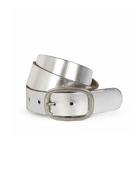 Metallic Springs Belt silver