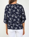Rachel top navy white B