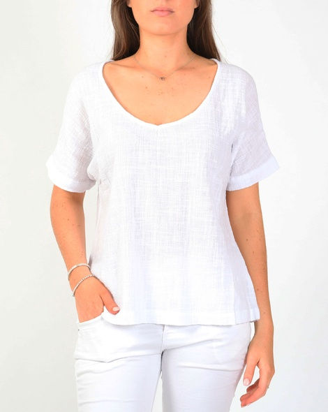 Joely top white A