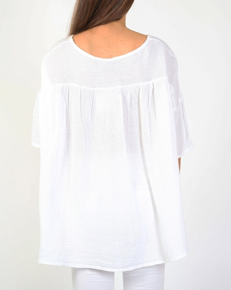 Gauze pelum top white B