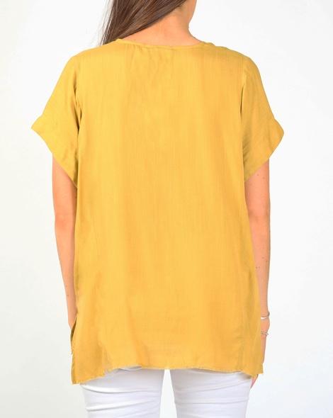 Mina top mustard B
