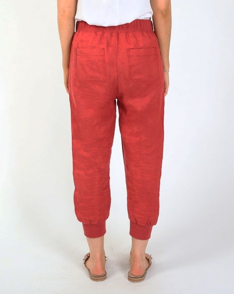 Thea jogger pant red B