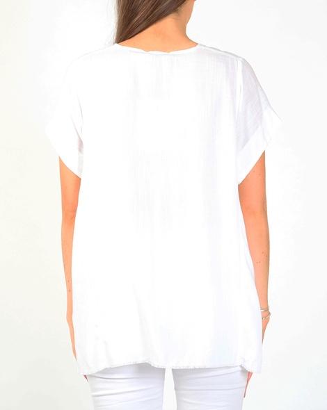 Mina top white B